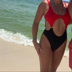 One piece cut out bikini!